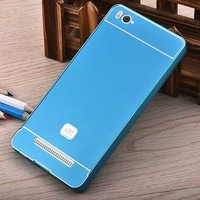 2015 Aluminum metal frame bumper+arylic back case for xiaomi mi4i