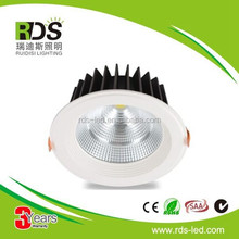 High brightness CE RoHS SAA 15w recessed led downlight with 120mm cut out