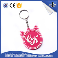 fashion hot selling various shapes 3D pvc key chain for sale