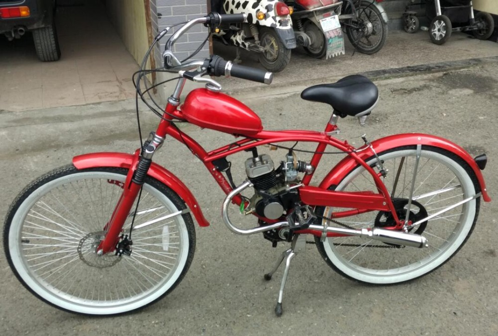 24 inch 2 stroke 80CC beach cruiser gas powered bicycles for sale