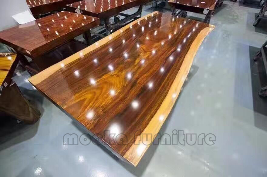 Natural reclaimed slab table top solid wood coffee table