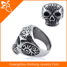 316l surgical stainless steel custom skull rings for men