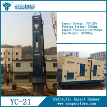 Hydraulic concrete pile machine for crane YC21widely applied for most types of piling and foundation works