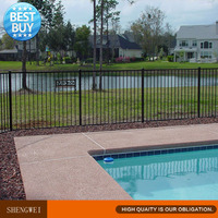 cheap flat top swimming pool fence for kids