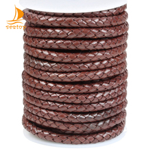 wholesale 5mm scalable round braided leather cord