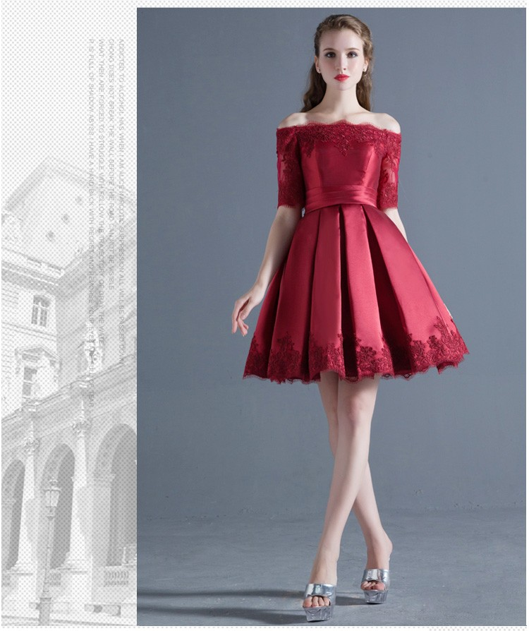 Guangzhou factory new design off shoulder short party weddings bridesmaid dresses