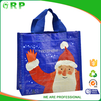 Hot selling stocklot recycle shopping pp nonwoven bag Christmas gift bag