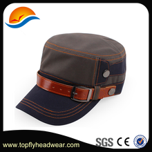 Custom Military Hats With Leather Belt