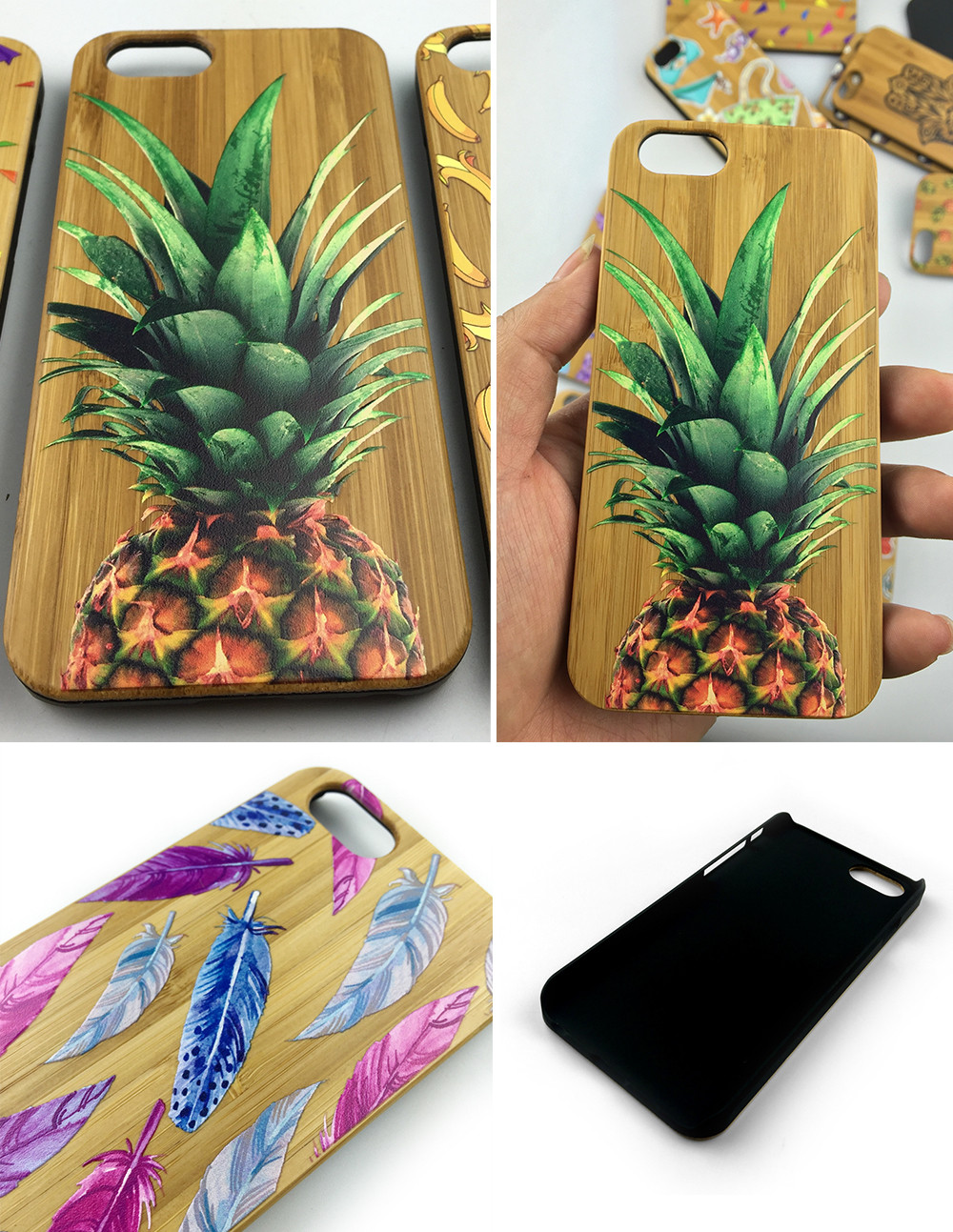 2017 UV phone wood smartphone case for iphone 7 case bamboo wood for samsung galaxy s6 s7 edge wood case for j7 j2