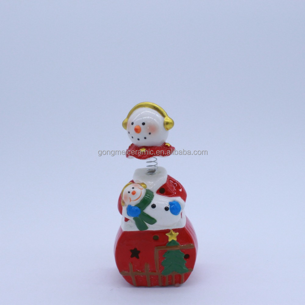 snow mother with her baby design ceramic home decoration
