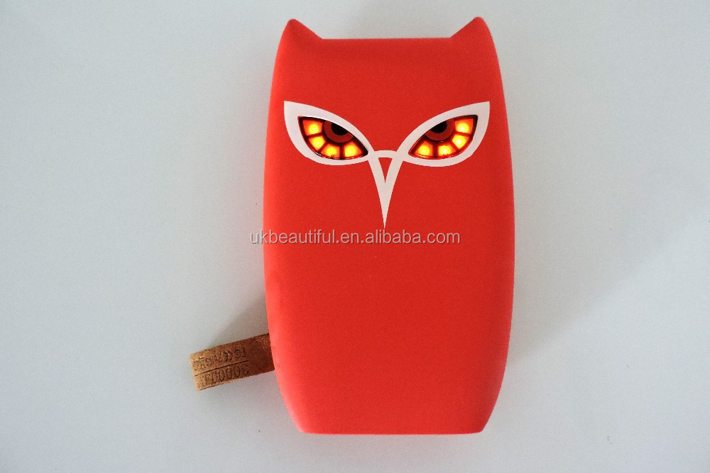 owl smiling face cute mobile power bank 8000mah with special design emoji face