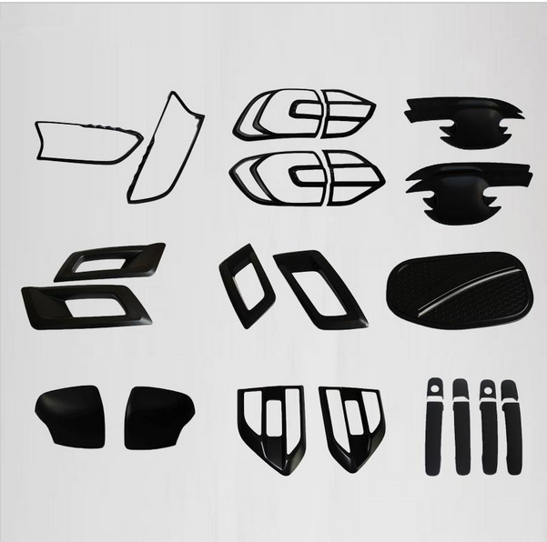 2016 for ford everest endeavour black kits for Ford everest 2016+ decorative lamp hood full kits endeavour new SUV car accessory