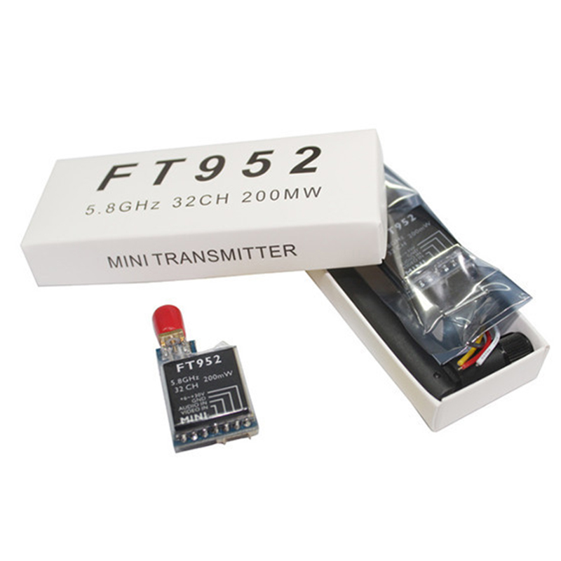 Super Light 2-7S input FT952 5.8G 200mW 32Ch Transmitter for FPV RC Drone quadcopter Receiver