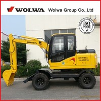 Mini 6 tons wheel excavator DLS865-9A in Shandong China for sale