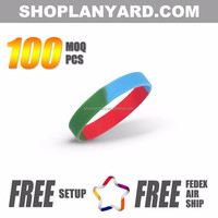 cheap promotion rubber bracelet custom silicone