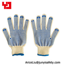 PVC dotted white cotton gloves