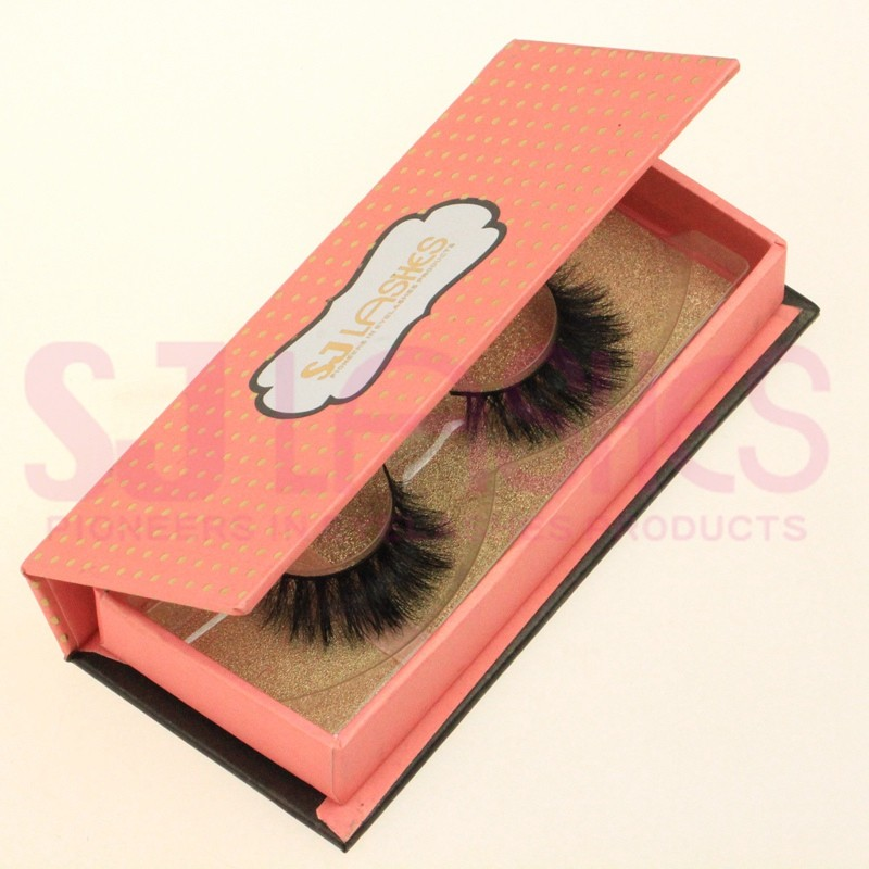 Custom Eyelash Packaging False Eyelashes Boxes Round