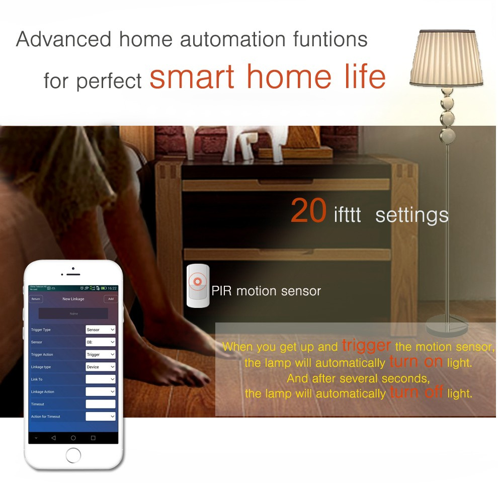 Smart home alarm system support 100 IP Cameras!TCP/IP cloud Wireless WIFI/GPRS home security system