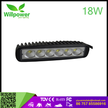 "DISCOUNT!!!wholesale led light bar 18W 6""INCH SPOT FLOOD off road led light bar single row led light bar for Jeep, 4x4"