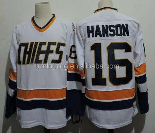 Chiefs Hanson #16 Hockey Jersey