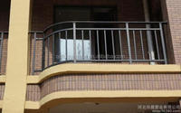 Exterior ornamental wrought iron balcony railings