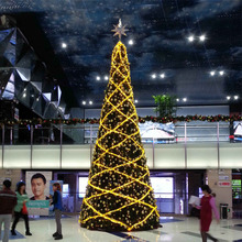 Indoor Giant Lighted Christmas Tree