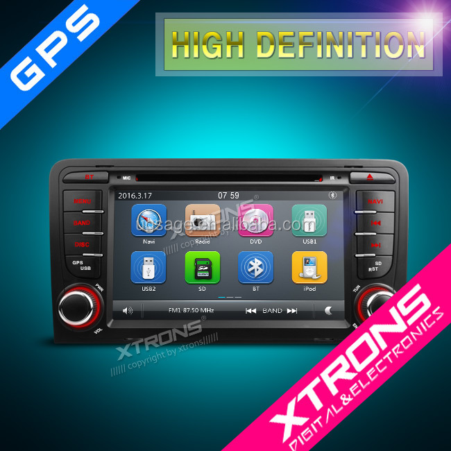 "XTRONS PF72AA3GT 7"" Capacitive Touch Screen double din car radio with GPS Navigation Canbus for Audi A3/S3"