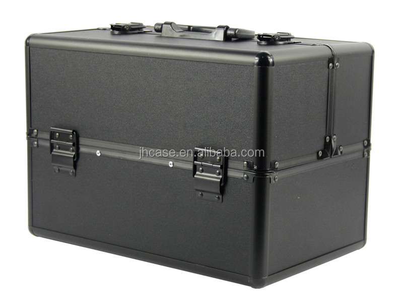 Cosmetic train case, factory direct sale cosmetic case and makeup box aluminium box, silver makeup case JH508