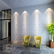 PF-38 little stone like Cheapest hot selling 3d bamboo fiber wall panel\wall decoration 3d board