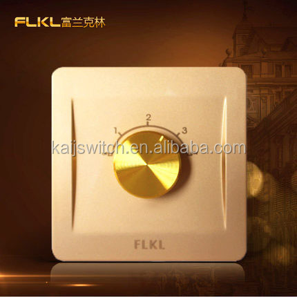 Champagne gold ceiling fan speed control rotary switch