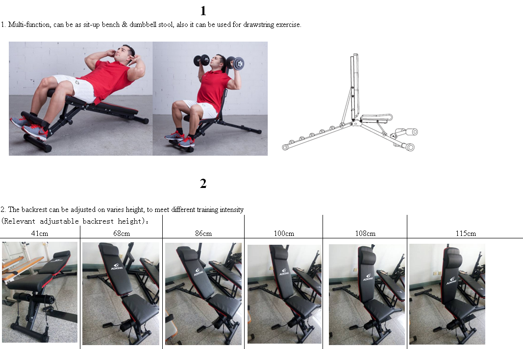 Woldwide European market high quality  Dumbbell Bench multifunction