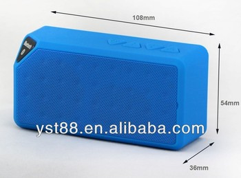wireless mini bluetooth speaker YST-X3 with FM radio and Built-in Mic for hands-free phone call