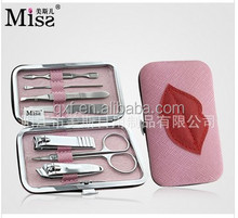 2016 Miss professional manicure pedicure tool,scissors for the skin,manicure set in box