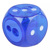 Hot sales factory middle open twin 2 holes blade wood flour container cute size dice cube clear HB plastic pencil sharpener