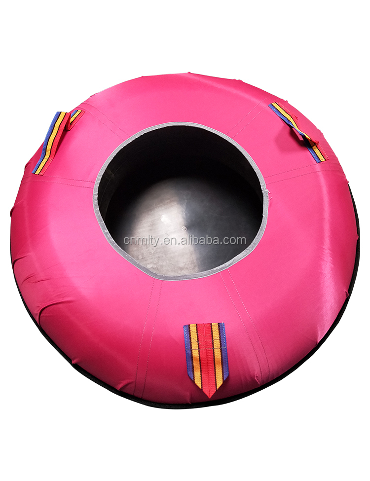 Round Towable Winter Inflatable Snow Tubing Equipment for Adults
