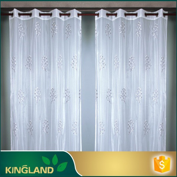 Decoration home Luxury Organza silk embroidery curtain