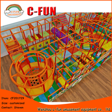 Amusement park 2 level barn theme indoor playgroud design
