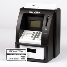 Digital ATM Money Bank Black Electronic Coin Note Money Counting Atm Box Saving Safe Digital Piggy Bank