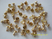 Custom high quality metal material gold paper fastener brad