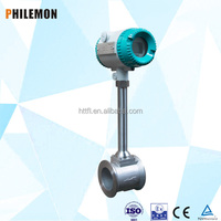 High accuracy LCD display temperature and pressure integrated vortex flow meter