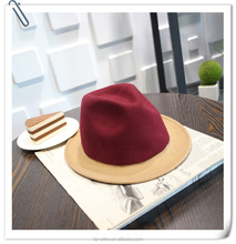 High Quality Hand Made Gents Fedora Felt Trilby Hat With Wider Brim 100% Wool