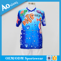 2016 OEM China Cheap Price Bulk V-Neck Polo T Shirt with Short Sleeve