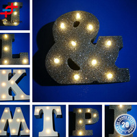 Outdoor Flash powder Wood Light up letters/battery powered led open signs/outdoor light up letters