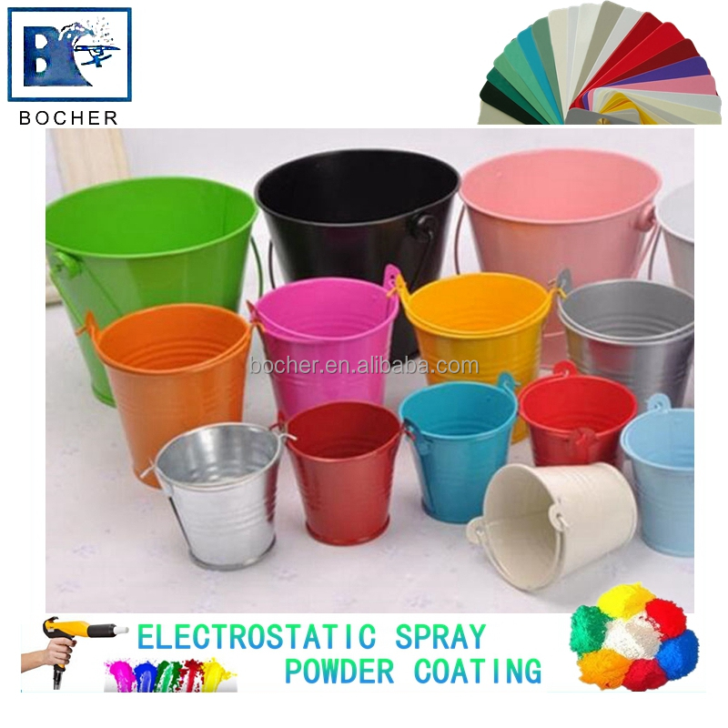 Bucket coating anti rust colorful powder coating manufacturer