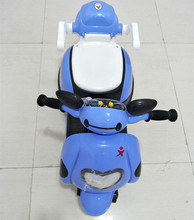 Blue color China electric ride on car 3 wheel bike motorcycle for kids / children motorcycle