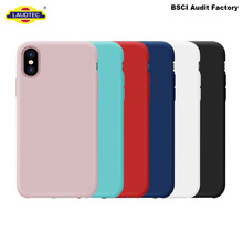 For iPhone X Case,For iPhone X Silicone Cover,Liquid Silicone Gel Rubber Matte Case With Inside Soft Microfiber