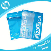 opaque heat seal resealable plastic bags for food