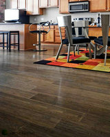 E1 Standard gloss finish Grey parquet bamboo hardwood flooring