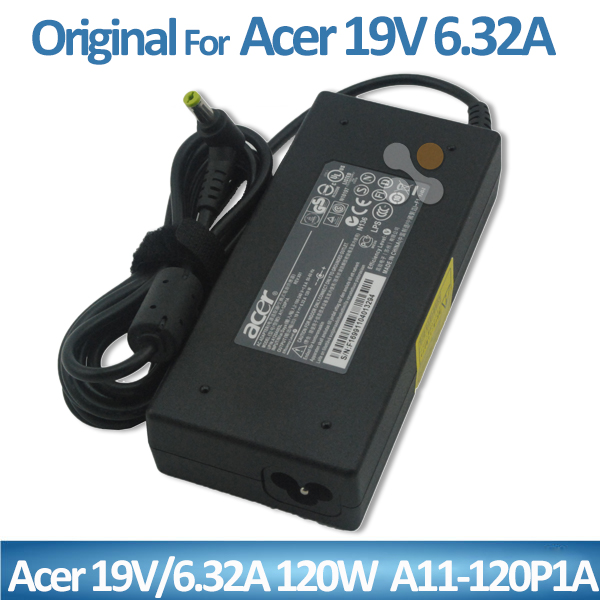Hot sale laptop ac adapter 19v 6.32a 120w for Acer A11-120P1A Full stock power cable laptop charger for Acer