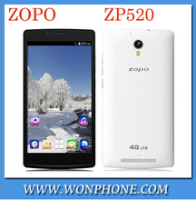In Stock!Original ZOPO ZP520 4G LTE Mobile Phone 1GB RAM 8GB ROM MTK6582M Quad Core 1.3GHz 5.5 inch 960X540 IPS Screen/ Koccis